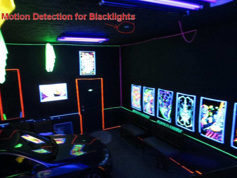 Trippy Blacklight Room  wwwimgarcadecom  Online Image  ~ 060819_Blacklight Dorm Room Ideas